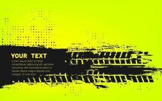 Hintergrund mit Grunge-Reifenspur und Halbtönen. eps10 vektor