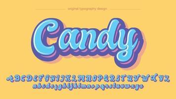 blaue niedliche kühne Kalligraphie handgeschriebene Cartoon-Typografie vektor