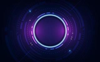 technologische zukünftige Schnittstelle Hud Plattform abstrakte Hintergrundvorlage Vektor-Design vektor
