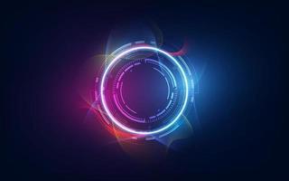 abstrakt tech futuristiska innovativa koncept bakgrund vektor