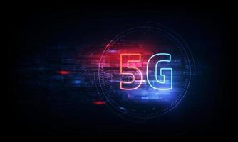 abstrakt 5g ny trådlös internetanslutningsbakgrund. globalt nätverk höghastighetsnätverk. 5g symbol på bakgrunden.