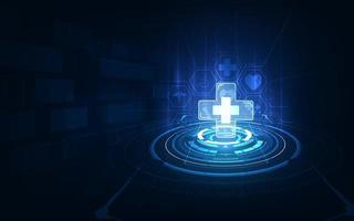 medicinsk sjukvård diagnostik sjukdom koncept design tech bakgrund vektor