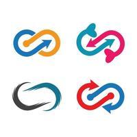 unendlich Logo Bilder gesetzt vektor