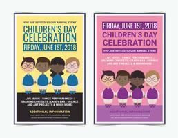 Vektor-Kindertag Poster vektor
