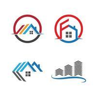 hus logotyp bilder set vektor