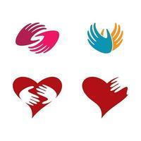 hand logotyp bilder set