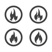 Feuer Logo Bilder gesetzt. vektor
