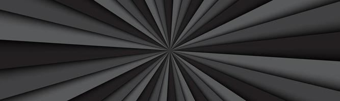 schwarzer und grauer abstrakter Header. dunkelschwarze Linien. helles Musterbanner. einfache Vektorillustration vektor