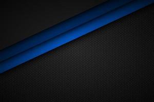 Enthalten Sie den blauen Linienvektorhintergrund mit achteckigem Netz. Überlappungsebenen auf schwarzem Hintergrund mit sechseckigem Muster vektor