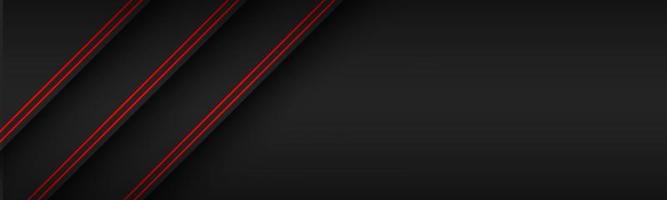 svart modern materialrubrik med diagonala linjer i röda färger. banner för ditt företag. vektor abstrakt widescreen bakgrund