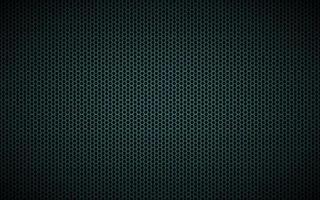 modern mörk svart och blå geometrisk bakgrund med månghörnigt rutnät. abstrakt svart metalliskt sexkantigt mönster. enkel vektorillustration vektor