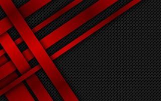 röda överlappande ränder. geometrisk materiell bakgrund. mörk abstrakt företagsdesign med plats för din text. modern vektorillustration vektor