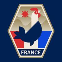 Fransk fotbollsnamn vektor