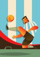 Argentina fotbollsspelare i aktion vektor