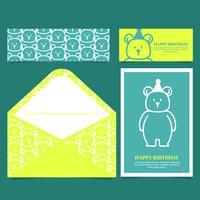 Vektor Färgglada Födelsedagskort