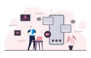 Menschen arbeiten von zu Hause aus Internet Online-Business freiberufliche Illustration vektor