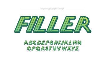 kursiv Sport futuristische Typografie für Logos und Überschriften vektor