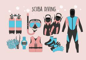 Scuba Diving Utrustning Vector