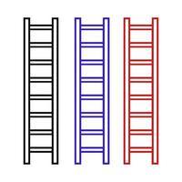Leiter auf weißem Hintergrund vektor