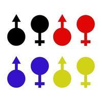 Geschlecht auf weißem Hintergrund eingestellt vektor