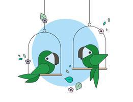Papagei-Vektor vektor