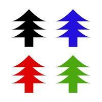 Satz Baum auf weißem Hintergrund vektor