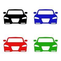 Satz Auto auf weißem Hintergrund vektor