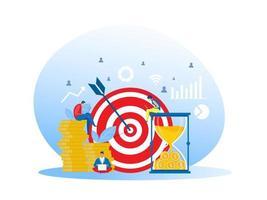 affärs teamwork illustrationer marknadsföring och utveckling vektor affärsidé framgång koncept, teamwork mål