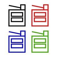 Satz Fotokopierer auf weißem Hintergrund vektor