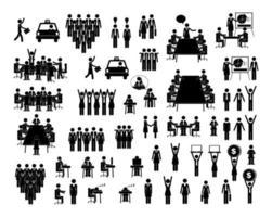 uppsättning människor ikoner vektor