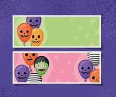 Halloween Banner Set vektor