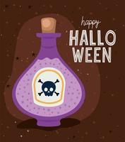 Halloween Giftflasche Vektor Design