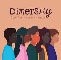 Diversity-Konzept mit interracialen Menschen vektor