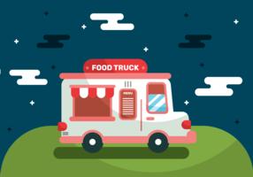 Lebensmittel-LKW-Vektor