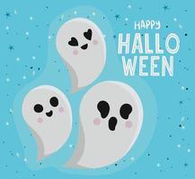 halloween spöken tecknad vektor design