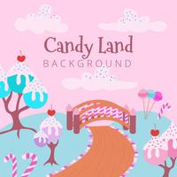 Süßer Süßigkeits-Land-Hintergrund vektor