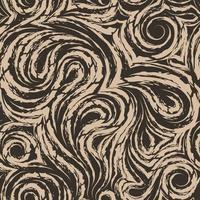 abstrakte beige Vektortextur aus glatten Spiralen und Schleifen. Faser aus Holz oder Marmor verdrehtes Muster. Wellen oder Wellen.