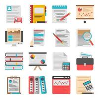 Packung Business Flat Icons vektor