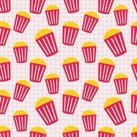 nahtlose Musterillustration des Popcorns vektor