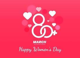 Internationale Frauentag Poster 8. März Nummer Illustration vektor
