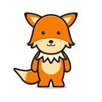 niedliche Fuchs Maskottchen Charakter Cartoon Vektor Icon Illustration