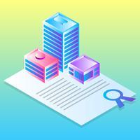 Flaches Konzept des Entwurfes für Immobilien-Geschäfts-Vektor-Illustration