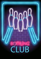 Neon Bowling vektor
