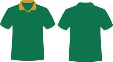T-Shirt-Modelle mit halben Ärmeln vektor
