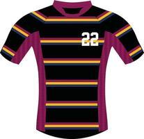 Rugby-Trikot-Modelle vektor