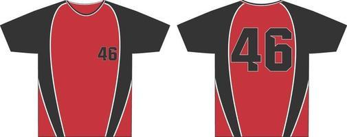 Männer Rundhalsausschnitt T-Shirts Mock-Ups vektor