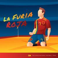 Spanien Fußball-Spieler-Vektor vektor