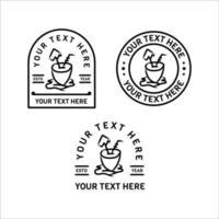 minimalistischer Outdoor-Logo-Design-Sammlungsvektor lokalisiert auf weißem Hintergrund vektor