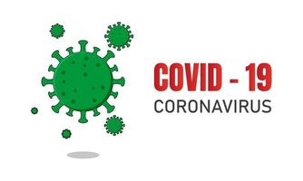 Corona Virus Banner Design Illustration vektor