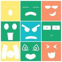 süßes Emoticon-Set vektor